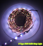 세륨 RoHS 3000k 60LEDs/M를 가진 높은 Quality S Type LED Strip Bendable 2835 LED Strip