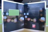 Cartão video - folheto video - livro do Cartão-Vídeo do cumprimento do LCD