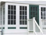 Ventana de desplazamiento de la alta calidad UPVC con PVC Windows de los diseños de las parrillas