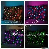 Cortina de la estrella del RGB LED del ornamento de la Navidad con siete colores