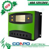 40A, 12V/24V, LCD, regulador solar de PWM