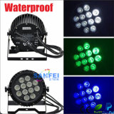 IP65 diodo emissor de luz 12PCS Rgbwauv Waterproof PAR Can Light