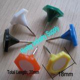Ufficio che lega Pin di plastica esagonale Assorted 18*20mm del chiodo a testa piatta di colori
