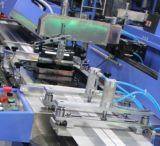 Máquina de impressão automática da tela de 2 etiquetas de cuidado das cores com cerco para a venda