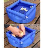 옥외 접히는 야영 수채 세척 세면기 물통 하이킹