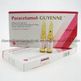 Estoque pronto para a injeção do paracetamol da febre do deleite