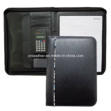 Leather nero Cover Medical File Folders con Pockets