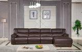 Tipo elettrico L sofà del Recliner di figura (9220) di colore del caffè