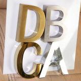 Signes balayés de lettre de l'acier inoxydable 3D