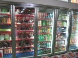 Congelador do indicador da bebida de quatro portas