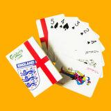 Las tarjetas de publicidad plásticas de las tarjetas que juegan del 100% con crean para requisitos particulares