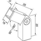 Connecteur carré de tube pour la balustrade de balustrade
