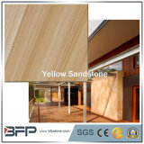 Хонингованные желтые деревянные слябы/плитки песчаника вены