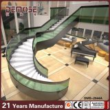 House Design (DMS-2044)の明確なGlass Handrails Curved Stair