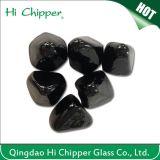 Piqûre en verre noire d'incendie de forme d'anarcadier de pierre gemme