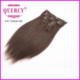Preço de fábrica que vende o grampo peruano na extensão do cabelo, Weave do cabelo do grampo