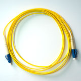 Cordon de connexion de fibre optique de SM de duplex de jupe de PVC de LC_LC