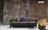 Ledernes Chesterfield-Möbel-Chesterfield-Sofa