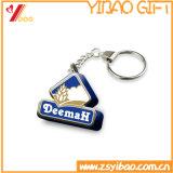 Metallo stampato abitudine Keychain di promozione con il marchio a resina epossidica