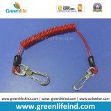 Línea cadena de la seguridad del acollador del sostenedor de herramienta del espiral de la Alambre-Memoria de la protección del rojo