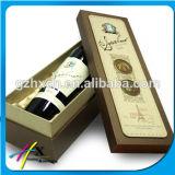 Contenitore di regalo impaccante caldo di goffratura del vino rosso del documento del cartone della stagnola