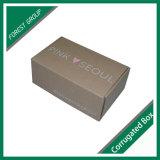 Caja de embalaje acanalada impresa aduana de Brown del rectángulo acanalado sin pegamento