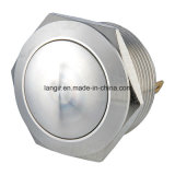 22mm Domed Head Screw Terminal Stainless Steel Resetable Push Button Switch