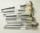 Комплект щетки состава руки свободно образца 10PCS Siliver профессиональный косметический