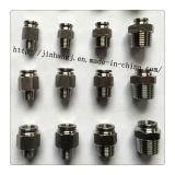 PC do aço inoxidável 12-03 encaixes pneumáticos