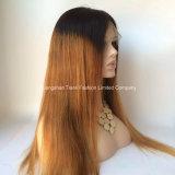 """28 """" perucas dianteiras longas 1b/#27 do laço da peruca 150% do cabelo de Ombre"""