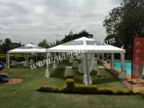 Private 정원 Party를 위한 100명의 사람들 Outdoor Hexagonal Pagoda Tent