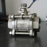 шариковый клапан нержавеющей стали 3PC с NPT /Bsp/BSPT
