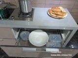 Hoher glatter hölzerner Küche-UVschrank (ZH453)