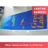 Tessuto resistente del vinile del tempo che fa pubblicità alla bandiera per l'esposizione di Exbition