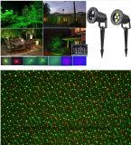 Luz laser al aire libre de la Navidad de la luz laser de la luz laser del duende de la estrella impermeable teledirigida de Rg