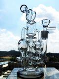 Glas van de Waterpijp van het Glas van de Percolator van de recycleermachine het Gealigneerde