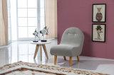 직물 소파 의자 또는 나무다리를 가진 아이들 의자 또는 갯솜 발판