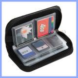 Multi Color Tela de algodón 22 ranuras de tarjetas de memoria del bolso del caso para el 18 de SD Card 4 Tarjeta CF