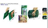 Conjuntos de rastrillos de jardín plásticos de la mano de la hoja