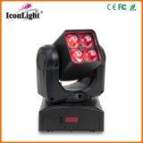 luz principal movente do zoom pequeno de 4X10W RGBW para a iluminação do disco (ICON-M066)