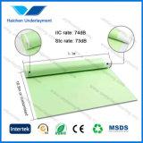 Espuma verde dos acessórios IXPE do assoalho para os Underlays de madeira da isolação sadia do assoalho