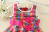 Moda flor Lovely Princess Girls Dress Children Wear Apparel