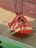 Compartimiento mecánico hermético del gancho agarrador de la cucharada dual de cuatro cuerdas para el material a granel