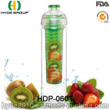 подгонянная 750ml бутылка воды Tritan с плодоовощ Infuser, пластичной бутылкой воды вливания плодоовощ (HDP-0601)