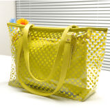 OEM Durable Custom Print Candy Color PVC Handle Tote Bag