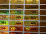De zwarte Sticker van het Hologram van de Druk Silkscreen