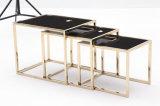 현대 광택 있는 Titanium+Marble 코너 테이블