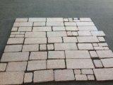 Золотистый желтый цвет G682 пылал плитки гранита для камня Walling