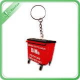 PVC macio Keychain da forma feita sob encomenda relativa à promoção