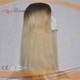 Blondes Haar-dunkle Wurzel-Silk oberste jüdische Perücke